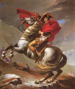 Napoleon Crossing the Alps (1800) by Jacques-Louis David